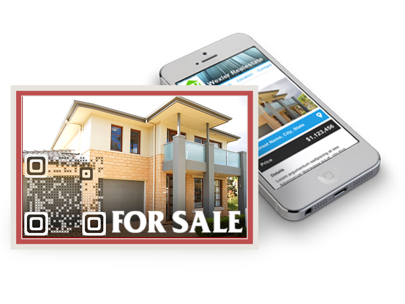 visual qr code for real estate